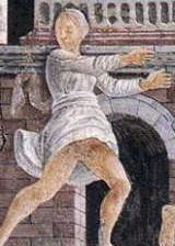 Fresko of Palazzo Schifanoia: Running Jew in a Pallio (Race)