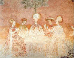 Trionfi players, before 1450, fresco
