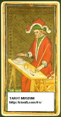 Magician from the Pierpont-Morgan-Bergamo-Tarocchi, short after 1450