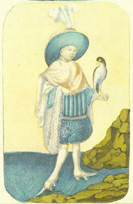 One of the oldest playing cards form the Stuttgarter Hofjagdspiel 1427 - 1431