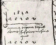 AEIOU, note in notebook of Fredrick III. in 1437, before he became Emperor